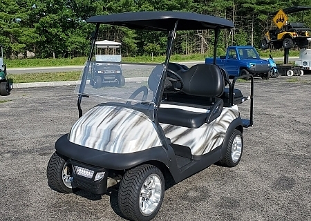 2005 CLUB CAR PRECEDENT WHT/BLK - $OLD